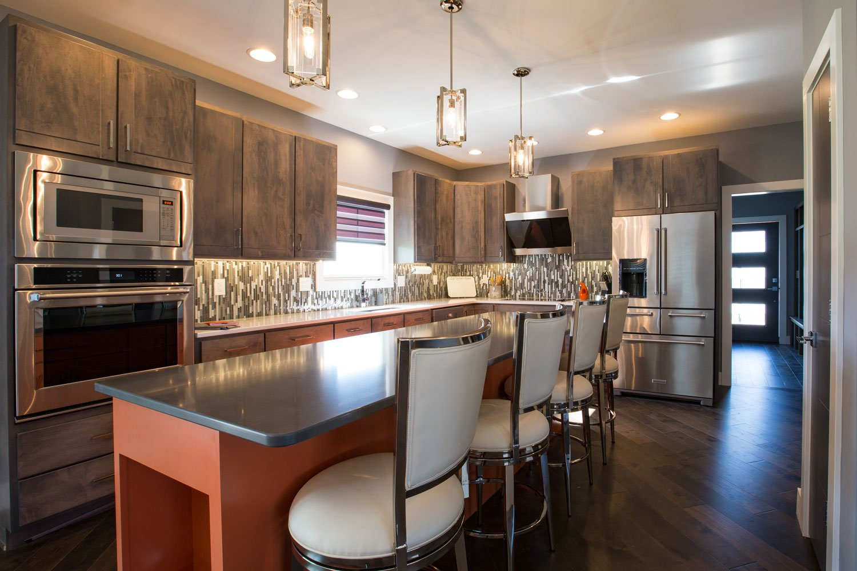 Evansville Parade of Homes 2017 Matt Reinbrecht's Home Kitchen Island