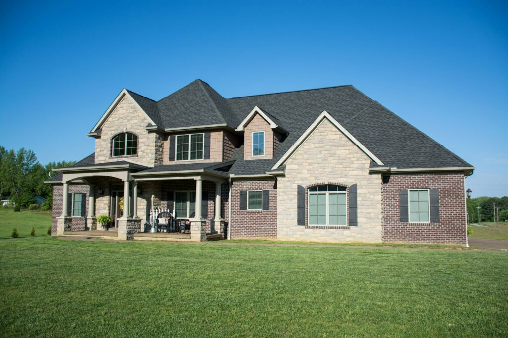 Spacious country home for Unique front elevation