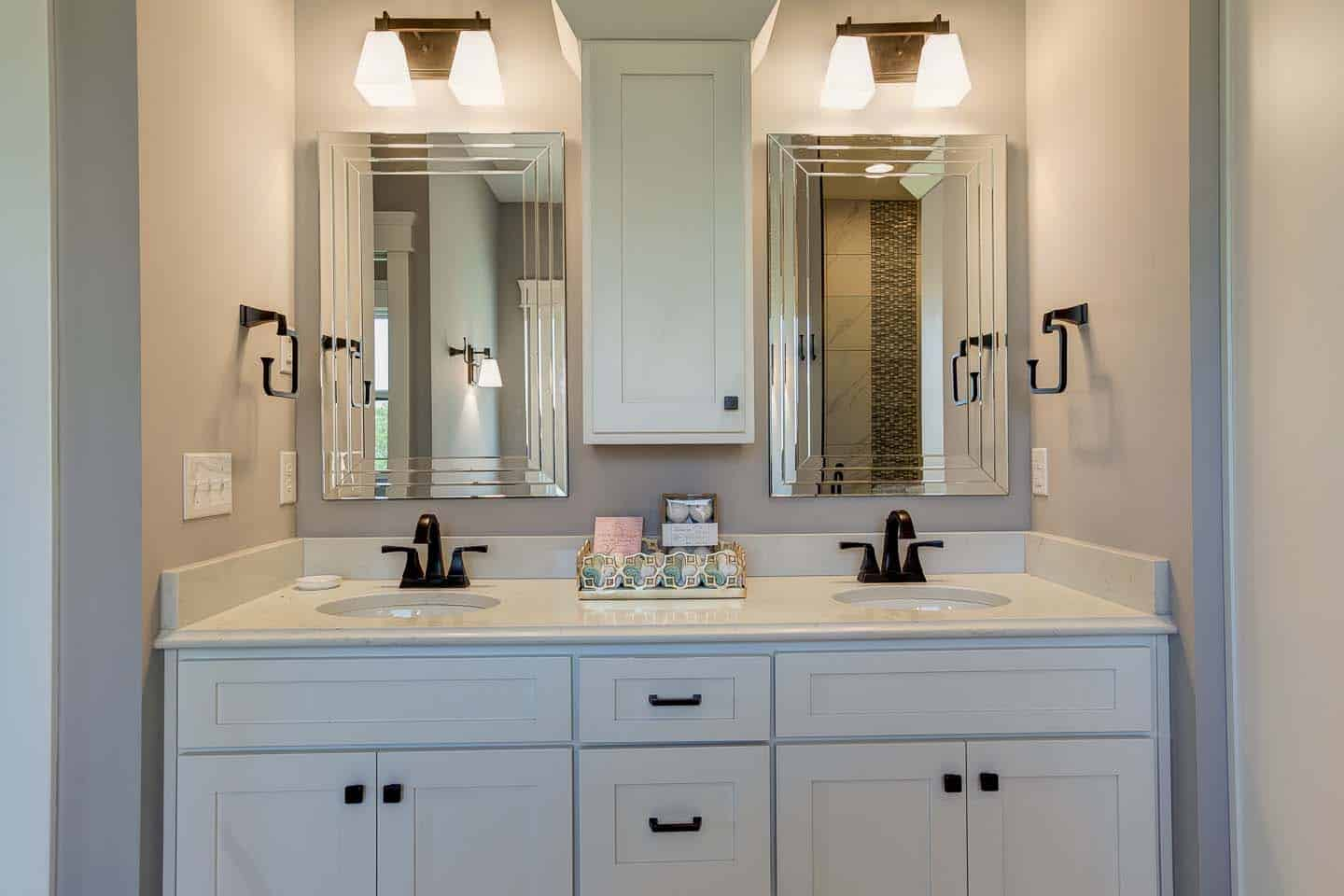 Evansville Parade of Homes | Reinbrecht Homes | Centerra Ridge Lot 156 Jack and Jill Sinks